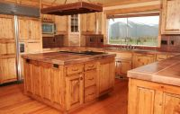 Knotty Pine Kitchen Cabinets | Custom Wood Doors made in ...