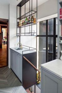 Hanging Kitchen Shelves Suspended From Ceiling ...