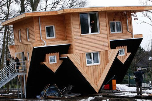 Crazy Upside Down House In Germany By Gerhard Mordhorst The 23ft