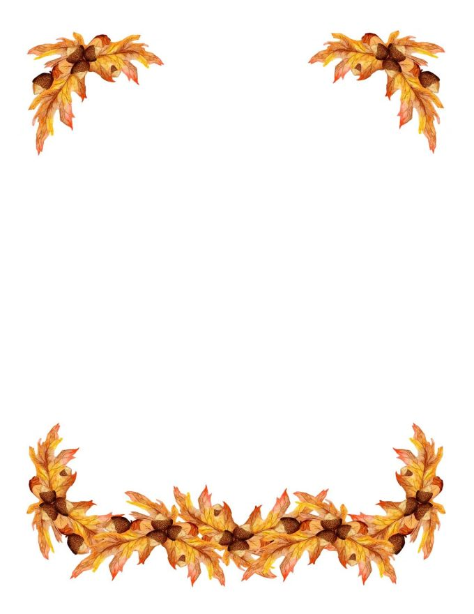 See 9 Best Images Of Printable Fall Border Clip Art Autumn Leaf Free Borders Each The Above Is Sure To Make Your Designs
