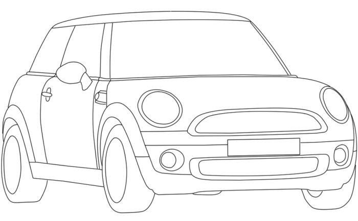 Mini Cooper Coloring Pages Sketch Coloring Page