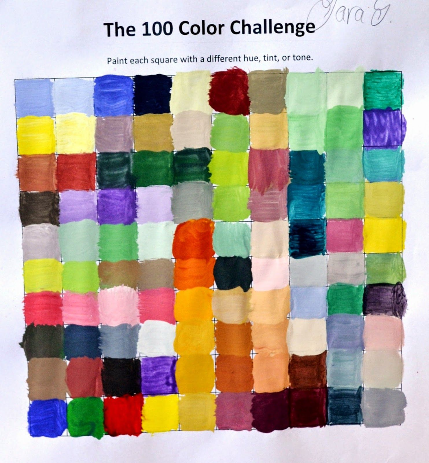 Color Mixing Challenge Mix 100 Different Colors