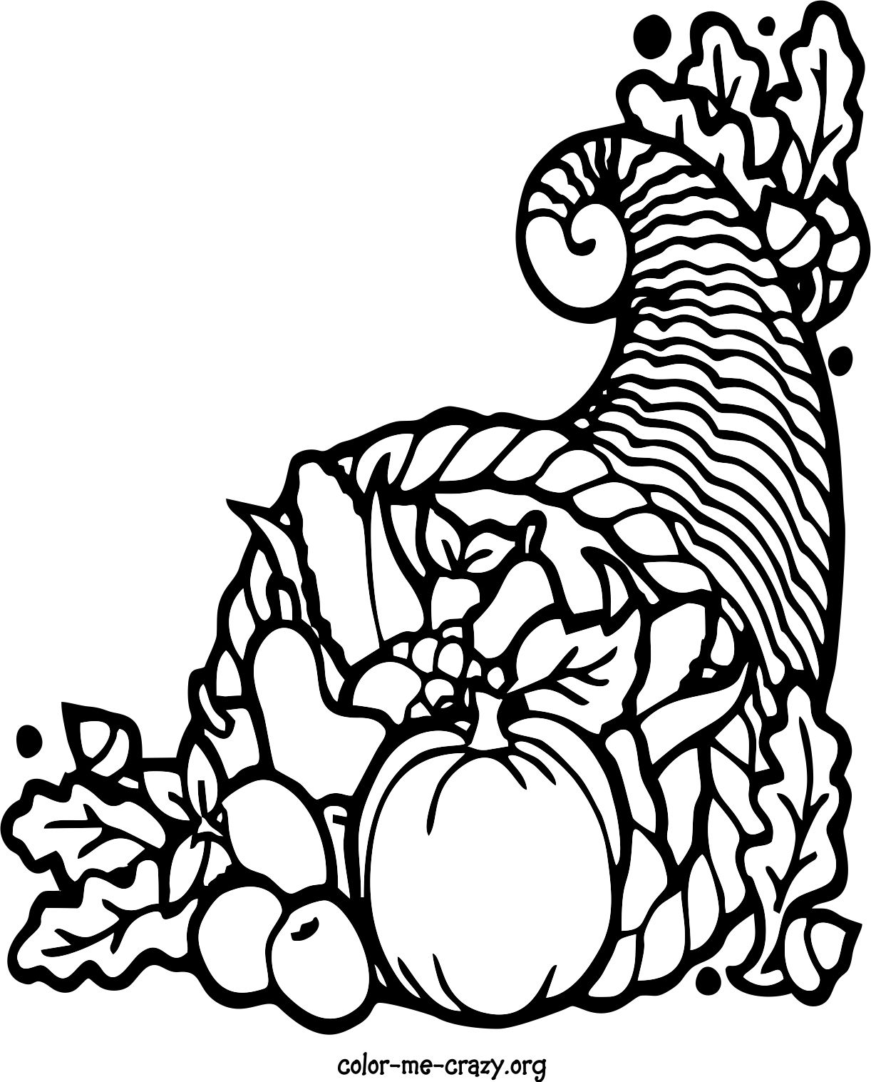 Coloring Pages Of Thanksgiving Theme