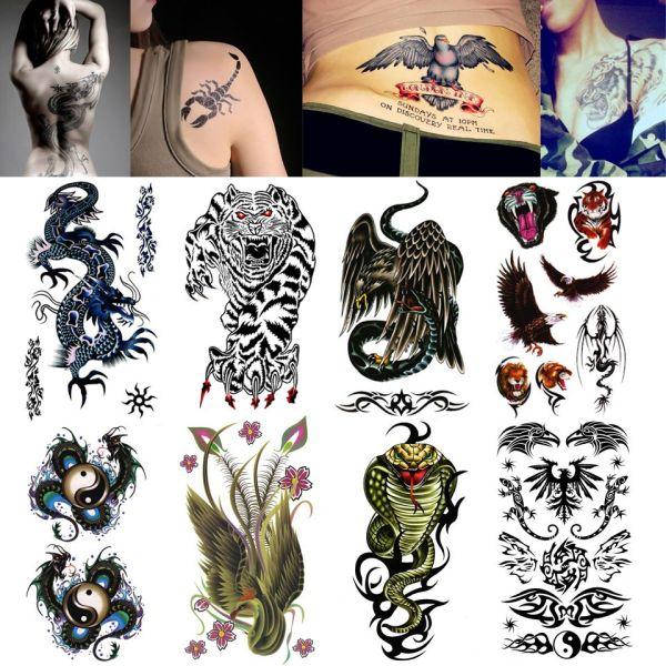 fake tattoo wild beast tiger temporary