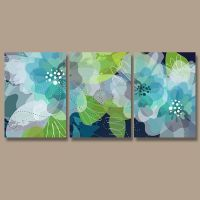 WATERCOLOR Wall Art, CANVAS or Print Pottery Flower ...