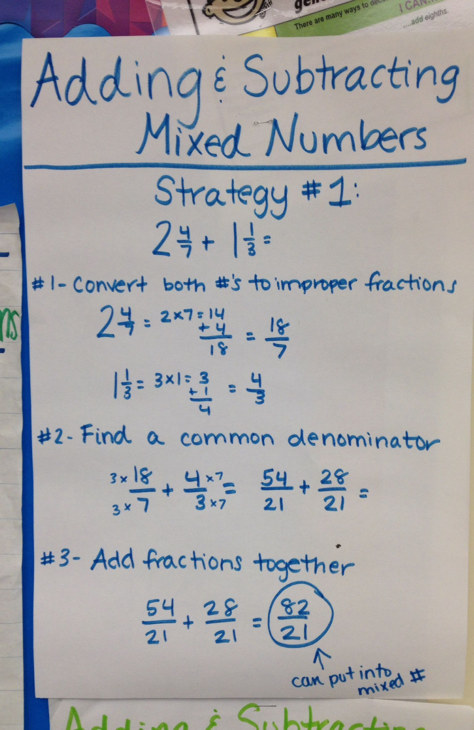 Numbers Anchor Adding Chart Mixed