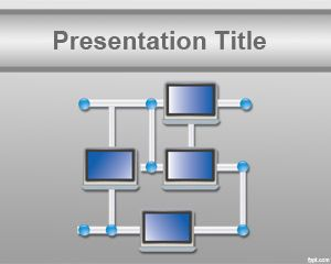 Free Computer Network PowerPoint Template Background With Network