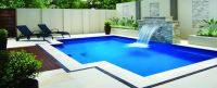 Pool, Awesome Waterfall In Swimming Pool With Natural ...