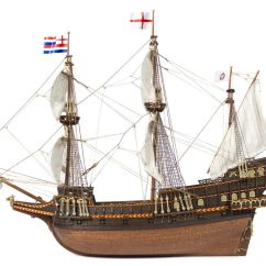 Columbus Ship Diagram Japanese Crochet Side View Of The Galleon Golden Hind Commanded By Sir