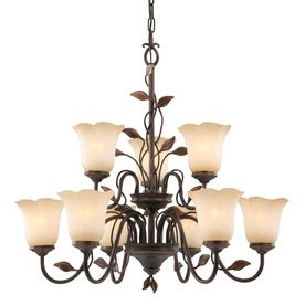 Allen Roth Eastview 9 Light Dark Oil Rubbed Bronze Chandelier Dining Room