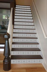 Grey Mosaic Tile Painted Stairway, 15 Stairs | Stairways ...