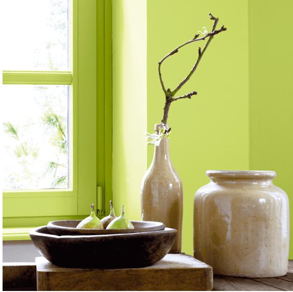 Association couleur avec le vert dans salon chambre cuisine  Couleur peinture Couleur
