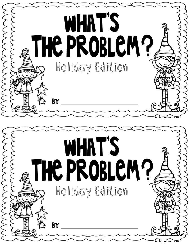 what's the problem holiday edition...my students love