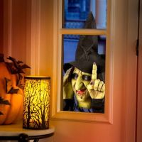 Animated Tapping Witch Halloween Window Decoration ...