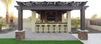 Pergola, Outdoor Kitchen, BBQ, Bar, Artificial Grass ...