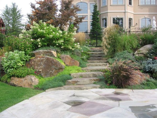 backyard hill landscaping