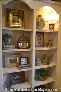 how to accessorize bookshelves. | spring decorating ...
