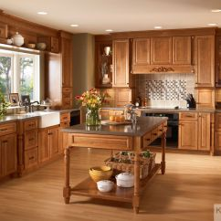 Kraftmaid Kitchens Gallery Moen Kitchen Faucet Models Ginger With Sable Glaze Highlights The Bistro Glass