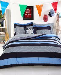Tommy Hilfiger Bedding, Wyndham Rugby Comforter Sets - Bed ...
