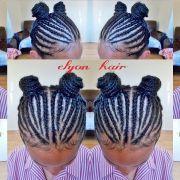 kids school cornrow hairstyle