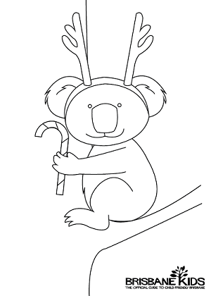 Christmas Colouring Sheets themed with Australian Animals