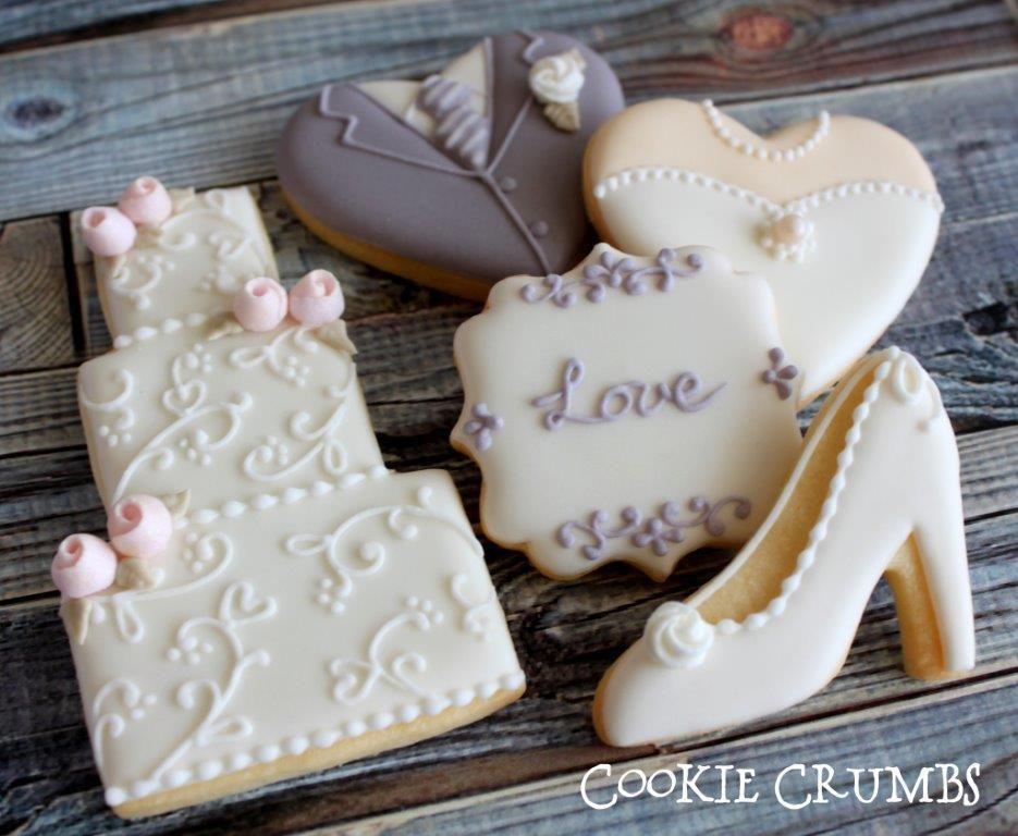 Wedding cookies  Cookie Connection  Wedding Cookies  Pinterest  Wedding Cookie decorating