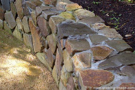 Mortared Rock Wall Using Native Tan Cobble Chip Stone — San