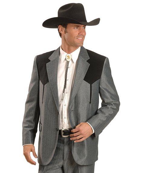 Circle S Boise Contrasting Yoke Western Suit Jacket  My