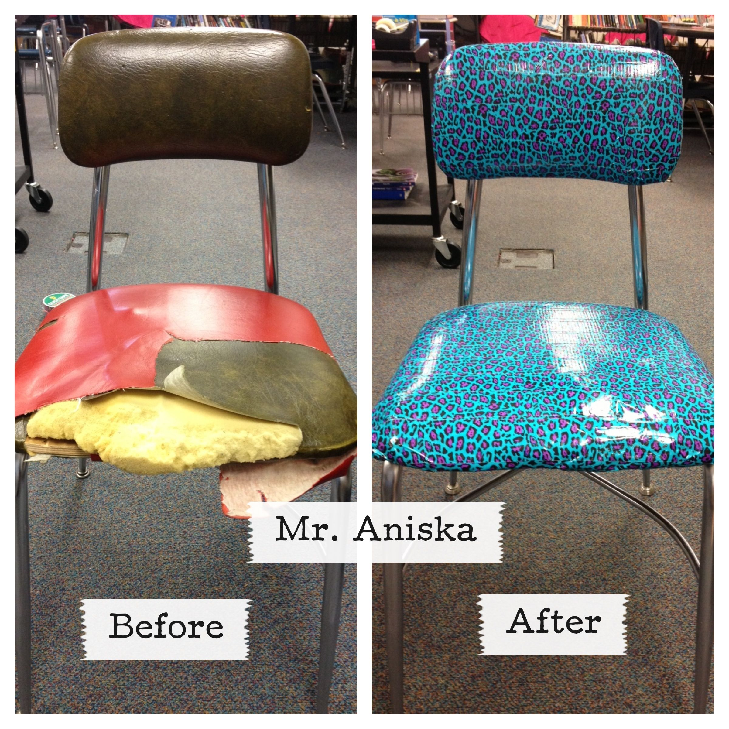 diy classroom chair covers leather executive office chairs canada one of my coworkers did this on the folding