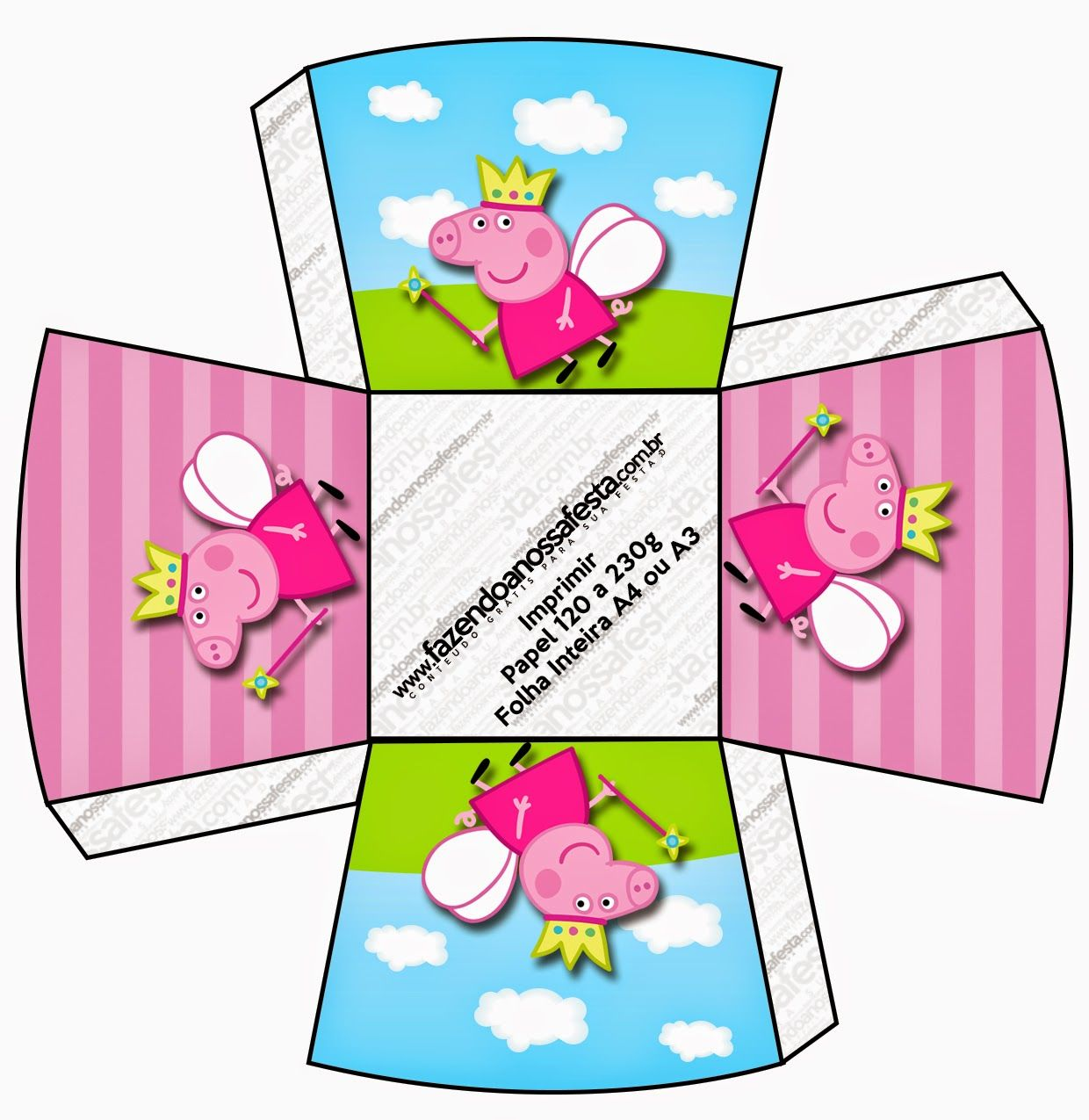 Peppa Pig Fairy Free Printable Boxes
