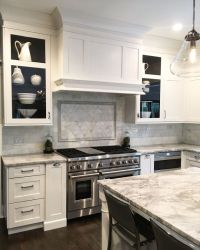 Kitchen Cabinet. Kitchen Cabinet and Hood. Shaker style ...