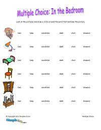basic english worksheets | Bedroom Vocabulary ESL ...