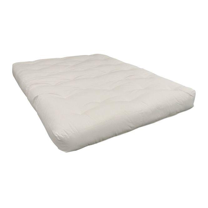 Moonlight Beige Cotton Foam 9 Inch Twin Xl Futon Mattress Natural Polyester