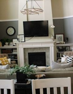 like the paint idea for  two story living room also retro color decorationsg pixels rh pinterest