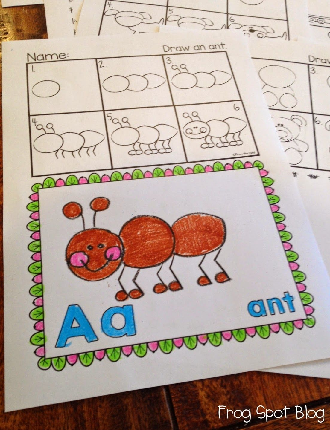 Frog Spot Alphabet Directed Drawing
