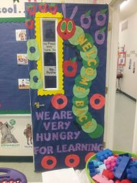 Back to school very hungry caterpillar door | Classroom ...