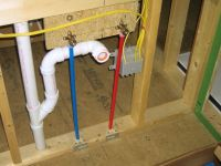 shower valve with pex plumbing