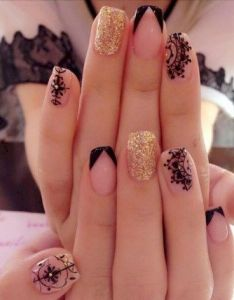 Nail designs gel nailsfrench nailsmanicure and pedicuremani pedinail salons solar nailsnatural nailssuper easy art hollywood nailsnail also pedi rh pinterest