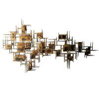 A mid century modern brass wall sculpture | Wall ...