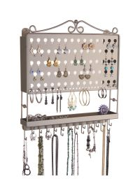 Wall Mount Earring Holder and Necklace Organizer - Multi ...