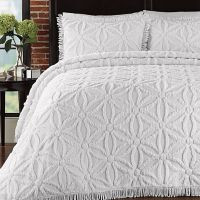 Arianna Bedspread and Sham Set in White | bedding ...