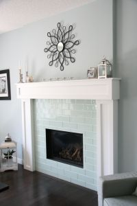White Tile Fireplace | www.imgkid.com - The Image Kid Has It!