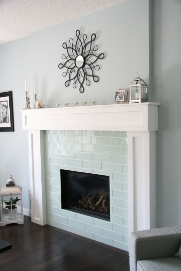 Marble Subway Tile Fireplace Surround Vtwctr