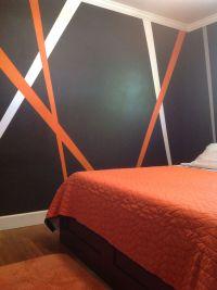 Grey, orange, white my new teenage boy bedroom decor ...