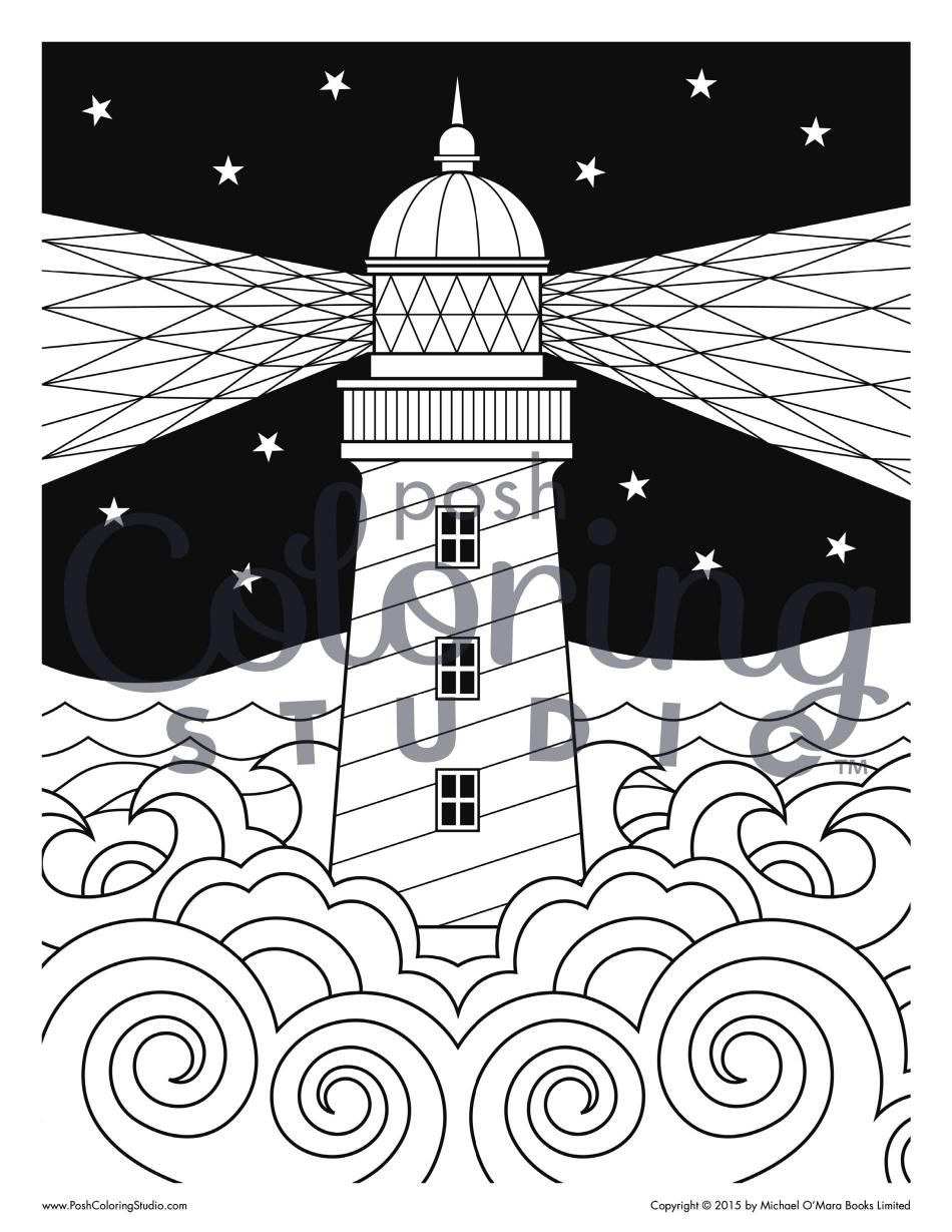 Lighthouse Guidance Part 2 Posh Coloring Studio Coloring
