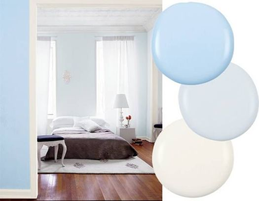 Blue Bedroom Paint Color Outside Wall Soft Sky By Benjamin