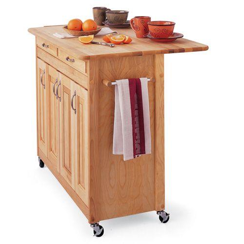 Catskill Super Kitchen Island Cart With Breakfast Bar 867 00