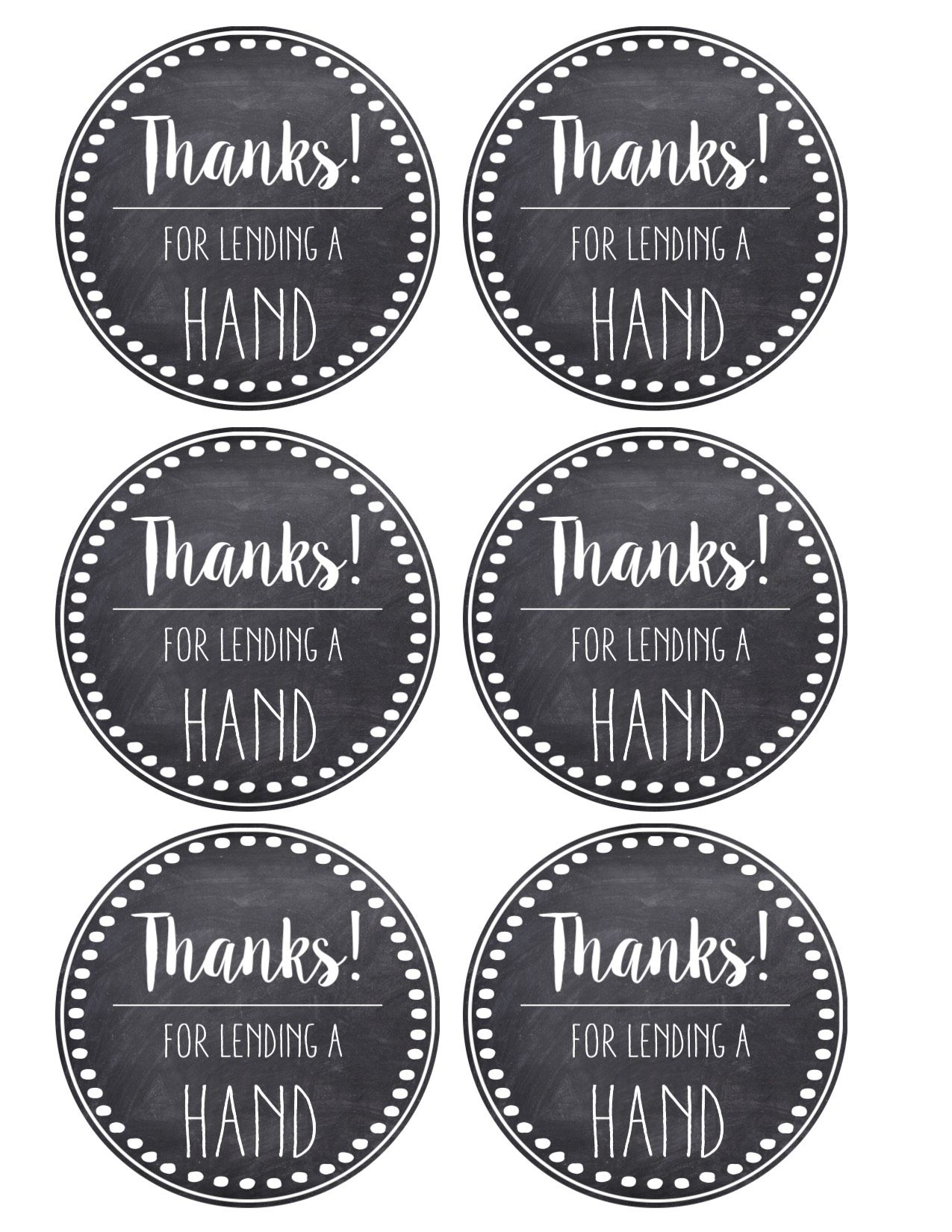 Thank You Amp Teacher Appreciation Tags Free Printable