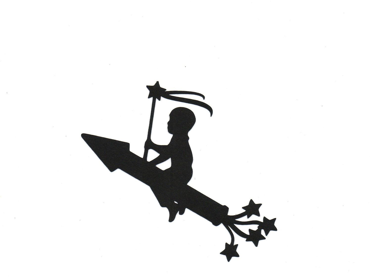 Boy On A Rocket Silhouette