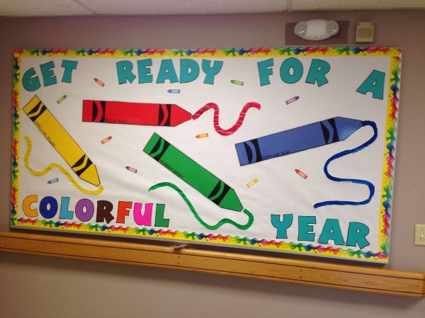 Back to School Crayon Bulletin Board Ideas
